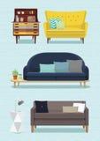 沙发设计 免版税库存图片
