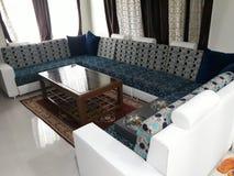 沙发集合房子美丽indore的城市 免版税库存照片