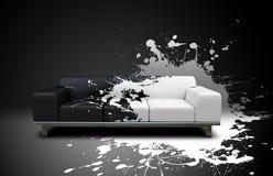 沙发飞溅 免版税库存照片