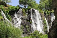 沙基瀑布(亚美尼亚) 库存图片