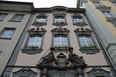 沙夫豪森-一个美丽的城市在瑞士 库存照片