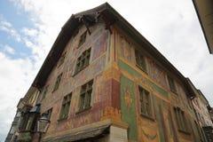 沙夫豪森-一个美丽的城市在瑞士 图库摄影