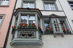 沙夫豪森-一个美丽的城市在瑞士 库存图片