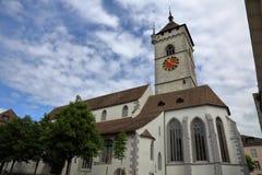沙夫豪森-一个美丽的城市在瑞士 免版税图库摄影