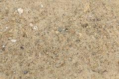 沙子和多灰尘的表面与小石头 库存照片