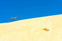 沙子和天空 图库摄影