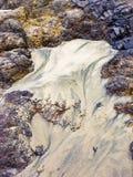 沙子和岩石样式 库存照片
