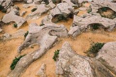 沙子和岩石 免版税库存照片