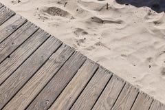 沙子和木头纹理  免版税库存照片