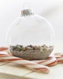 沙子和海圣诞节 免版税图库摄影