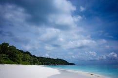 沙子和海泰国的南部的 免版税库存照片