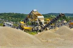 沙子和石渣生产 免版税图库摄影