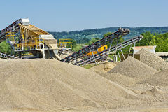 沙子和石渣生产 库存照片