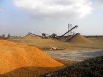 沙子采矿 库存照片