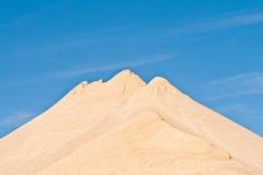 沙子和石头小山有山印象 免版税库存照片