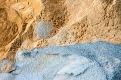 沙子和石头建筑的 免版税库存照片