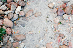 沙子和石头 免版税库存照片