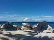 沙子和石头 免版税图库摄影