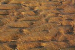 沙子和风踪影、背景和纹理 库存照片