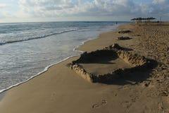 沙子图在shoresea附近的 库存图片