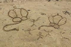 沙子图画 免版税库存图片