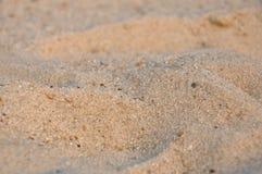沙子在海边 免版税库存照片