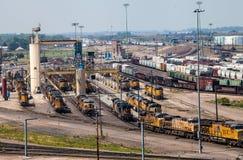 沙子塔在Railyard 免版税库存图片
