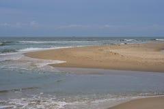 沙子处于低潮中 库存图片