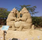 沙子大象在保加利亚 库存图片