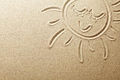 沙子太阳 库存照片