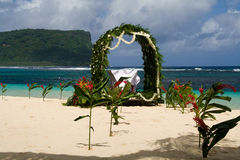 沙子婚礼白色 免版税库存照片