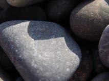 沙子小卵石在宏观方式下 免版税库存图片