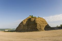 沙子山 乌拉尔风景 browne 沙漠喜欢 库存图片
