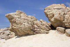 沙子岩石 免版税库存图片