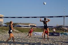 沙子排球 免版税库存照片