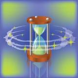 沙子时钟 向量例证