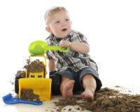 沙子是乐趣 免版税库存照片