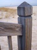 沙子木头 图库摄影