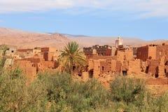 沙子村庄在摩洛哥,北非 免版税库存照片
