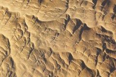 沙子样式在撒哈拉大沙漠。 免版税库存图片