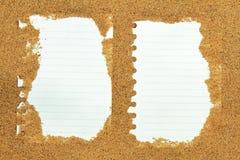 沙子框架笔记 免版税库存图片