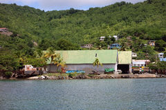 沙子棚子在加勒比 免版税库存图片