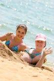 沙子水 免版税图库摄影