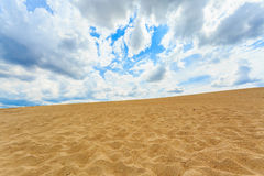 沙子沙漠视图 库存照片
