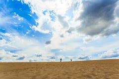 沙子沙漠视图 免版税图库摄影