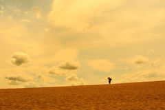 沙子沙漠视图 库存图片