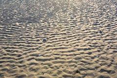 沙子波纹 免版税库存照片