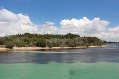 沙子海岛Forster, NSW澳大利亚 库存图片