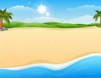 沙子海滩背景 皇族释放例证