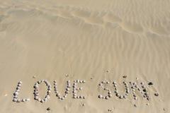 沙子海运壳 背景球海滩美好的空的夏天排球 顶视图 免版税图库摄影
